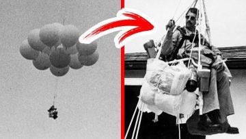 Bir Adam 45 Balon Bağlanmış Sandalyesiyle 90 Dakika Havada Uçtu