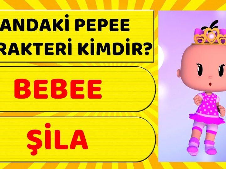 Pepee Karakterlerini Ne Kadar İyi Tanıyorsun? Pepee Eğlenceli Bulmaca – Çocuklar için bulmaca