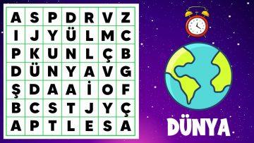KARE KELİME BULMACA #4 : Uzay ve Gezegenler Kelime Bulmaca Yarışması 🚀 | 👨🚀 Eğlenceli Bulmacalar