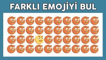 Farklı Emojiyi Bul! Beynini Takla Attıracak Zorlu Bulmaca Oyunları (EMOJİ BULMACALARI)