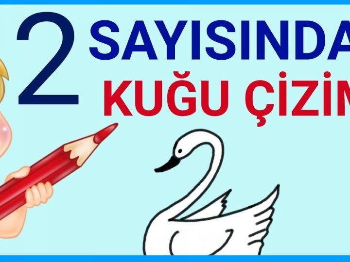 2 Sayısından Kuğu Çizimi   How to Draw a Swan with 2   Sayılarla Hayvan Çizimi #2